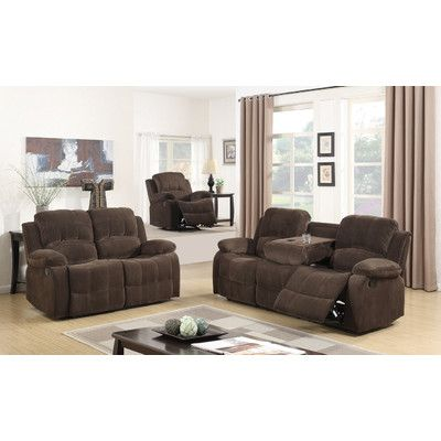 Best Quality Furniture Fabric 3 Piece Recliner Living Room Set ...