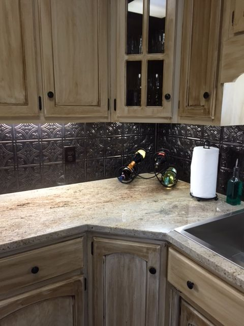 Astoria Granite Countertops Hickory Kitchen Cabinets Craftsman