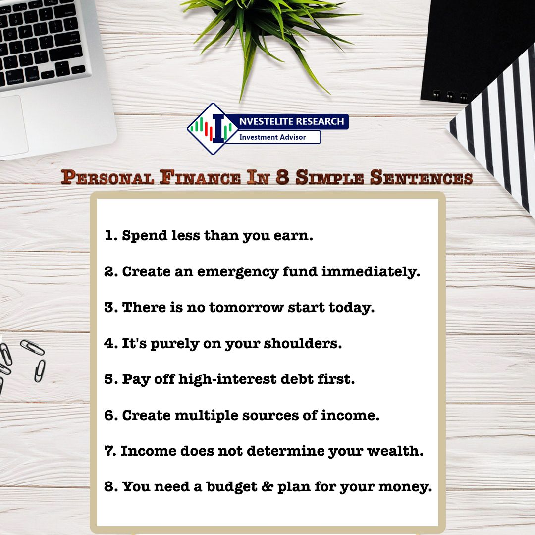 Personal Finance In 8 Simple Sentences Budget Planning Emergency Fund Simple Sentences