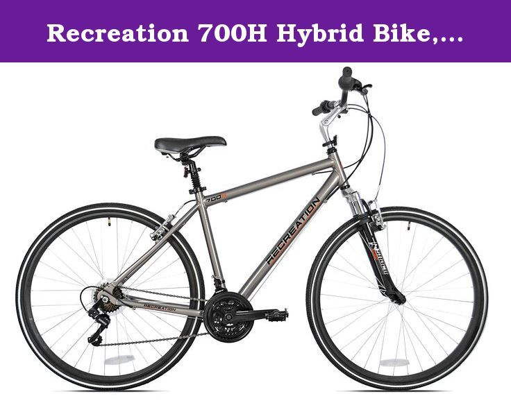 Recreation 700h Hybrid Bike Silver 21 X Large Recreation 700h Is Perfect For Fitness Commuting Or Just Plain Old Fun Hybrid Bike Bike Bicycle Maintenance