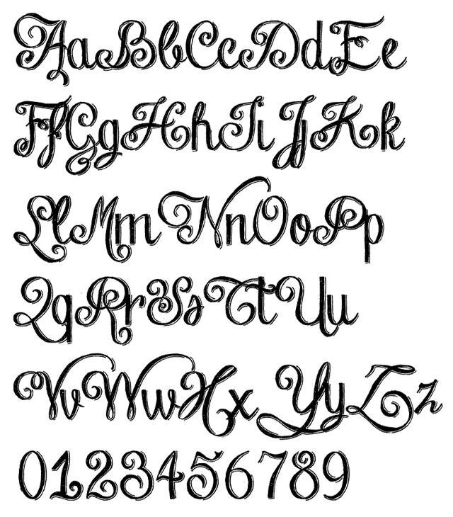 Chalk hand lettering by fontscafe alphabet example for Flowy tattoo fonts