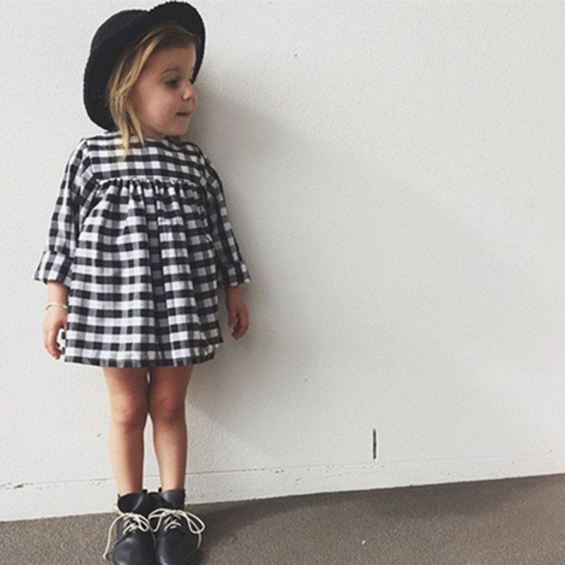 caaeadcb45c8 Black and white Gingham Dress // toddler style // baby girl style ...