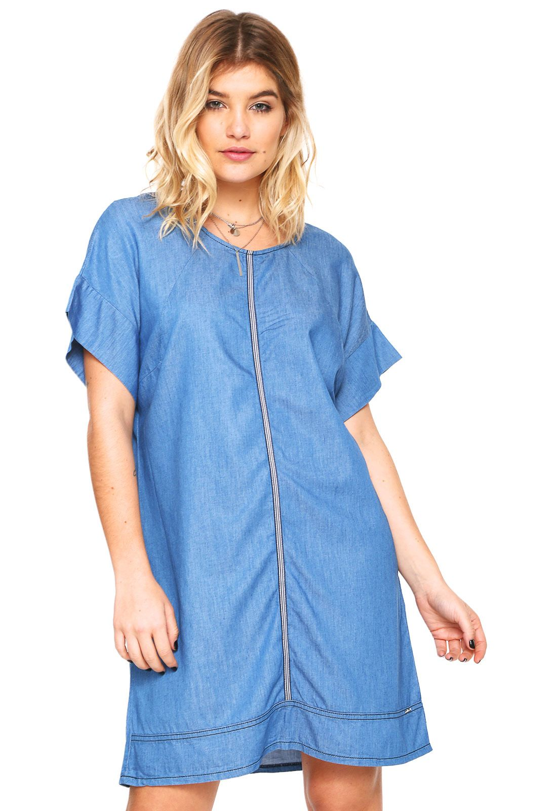 Vestido colcci curto annie azul marinho