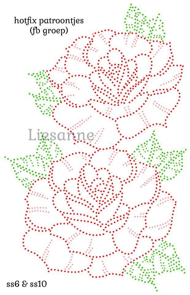 Pin de Lavanya en Patterns | Pinterest | Bordado, Puntillismo y Molde