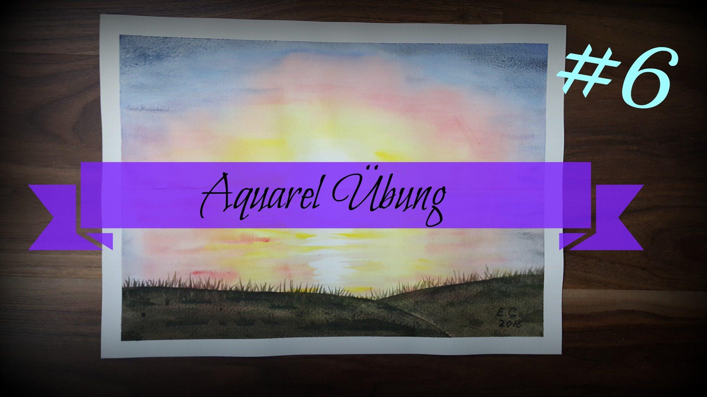 aquarell #6 | Sonnenaufgang