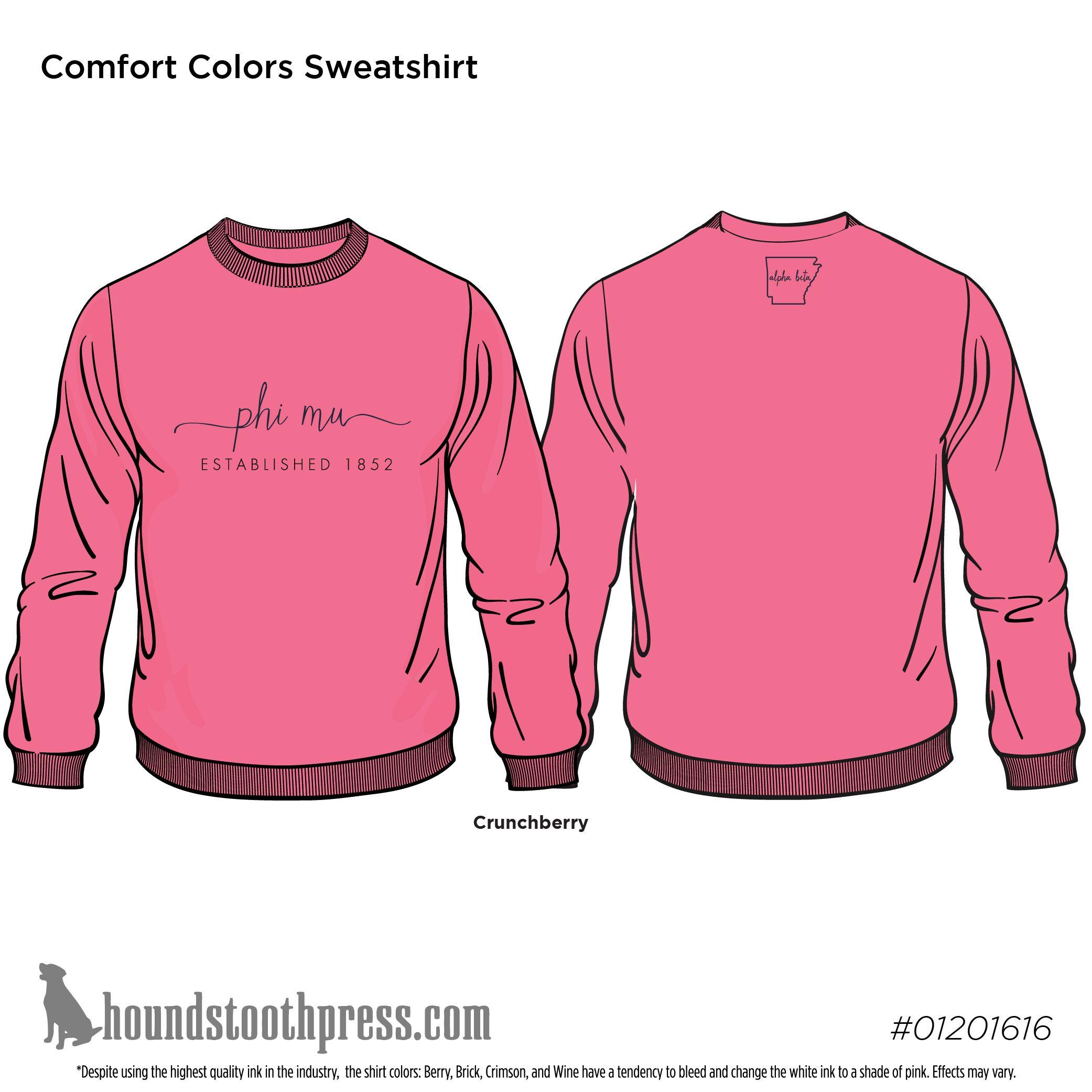 University Of Arkansas Phi Mu Comfort Colors Sweatshirt With