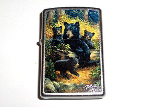 Zippo Linda Picken Collection Black Bear and Cubs Lighter | CollectableZippos.com