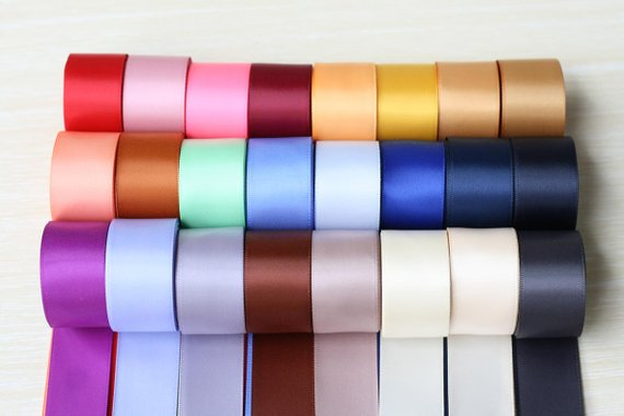 1 25mm Solid Satin Ribbon 120 Yards 5 Yards Per Color 24 Colors Double Faced Satin Ribbon For Wedding Diy Hairbow In 2020 Satin Ribbon Ribbon Ribbon Colors
