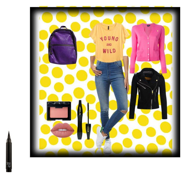 """""""Loka #3"""" by allergictobasicx on Polyvore featuring Jennifer Paganelli, Wrangler, H&M, Polo Ralph Lauren, Superdry, STELLA McCARTNEY, Lime Crime, Lancôme and NARS Cosmetics"""