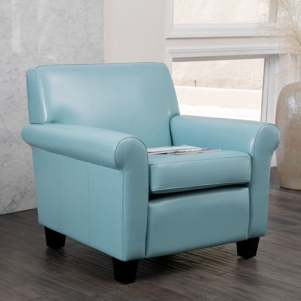 Best Christopher Knight Home Oversized Blue Bonded Leather Club Chair Leather Club Chairs Club 400 x 300