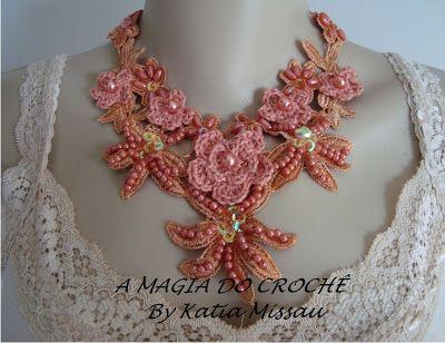 A MAGIA DO CROCHÊ - Katia Missau: Colar Angel