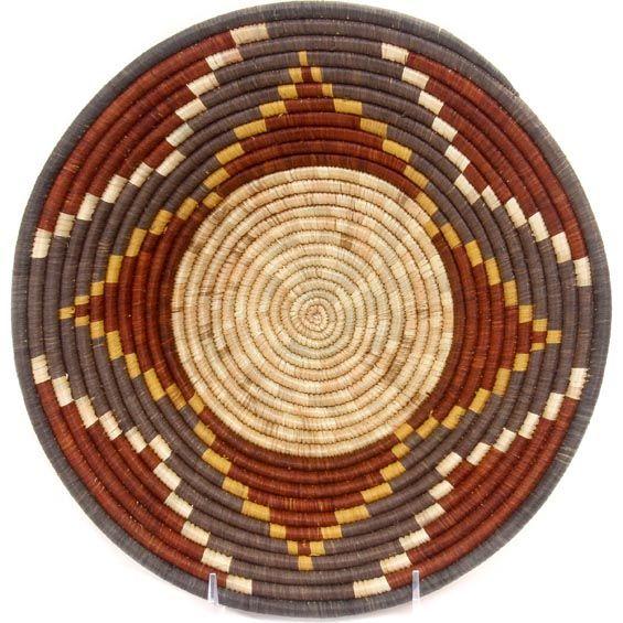 African Basket - Uganda - Rwenzori Bowl - 10.75 Inches Across - #47124