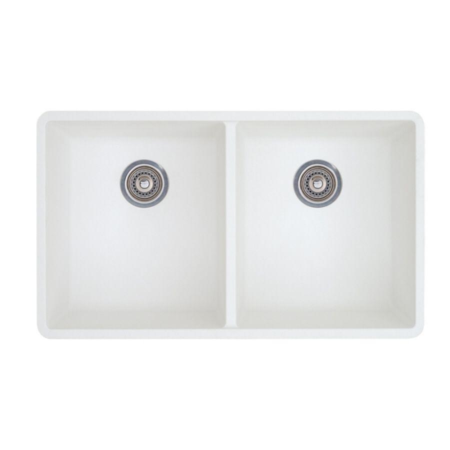 blanco precis 18 125 in x 29 75 in white double basin granite rh pinterest com