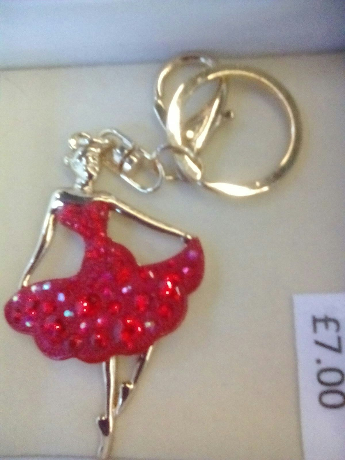 This lady in red makes the perfect keyring.  Buy yours on Monday.