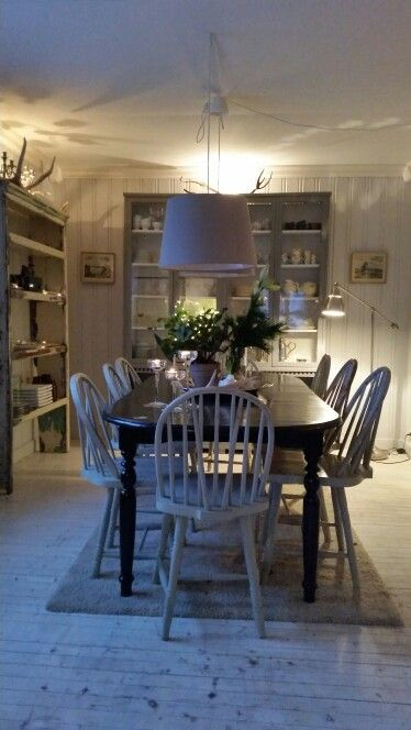 Christmas decor in old country house in Norway