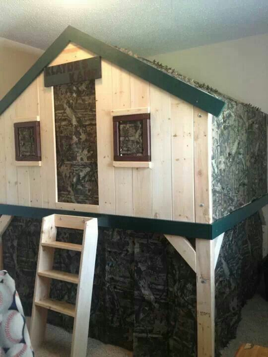 Klayde S Deer Stand Bed My Finished Projects Pinterest