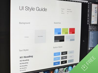 UI Style Guide Template (psd) Template, Brand style guide and Ui ux - guide templates