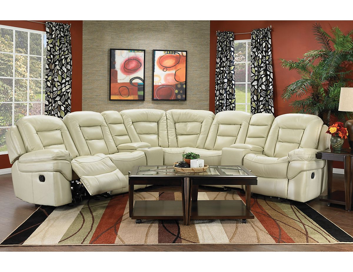 Leo 7-Piece Reclining Sectional - Sand (LEOS-7RS) | The : the brick leather sectional - Sectionals, Sofas & Couches