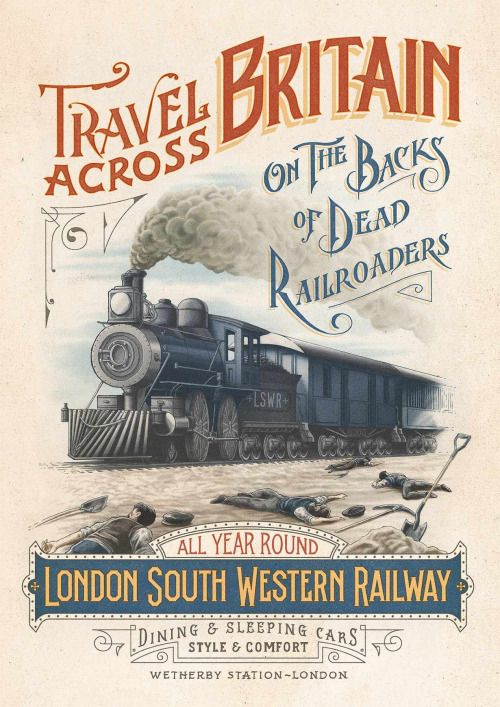 NEW ORLEANS LA QUEEN /& CRESCENT LTD Southern Railway Train Poster Art Print 228