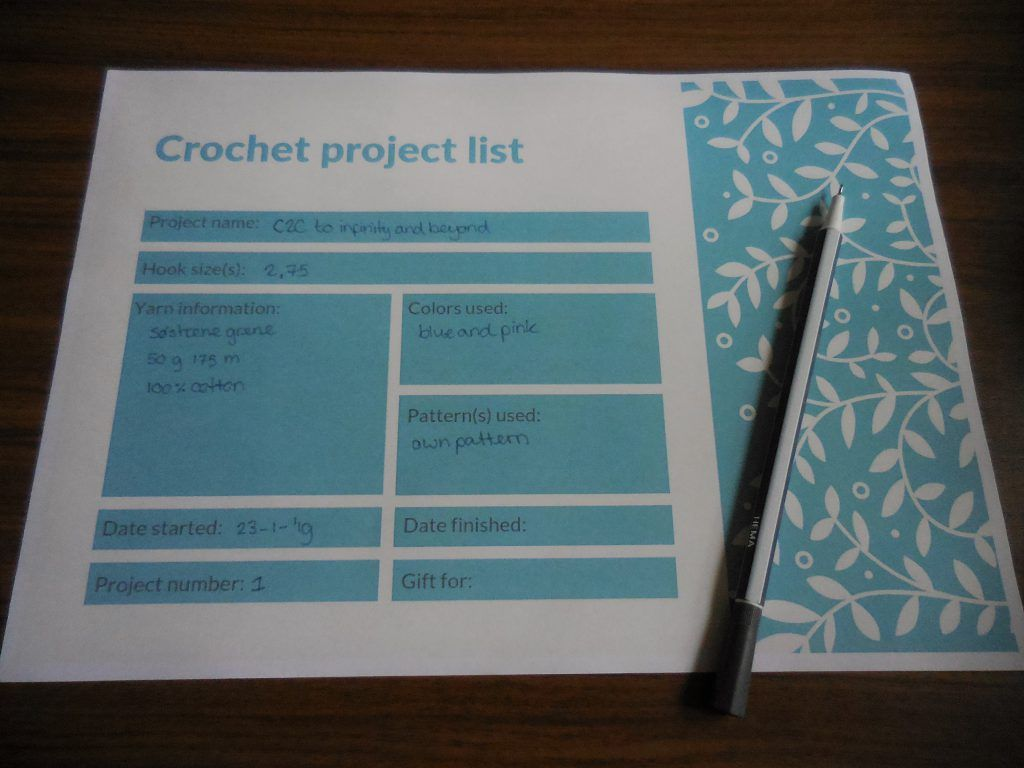 Downloadable Worksheets For Crochet Artists