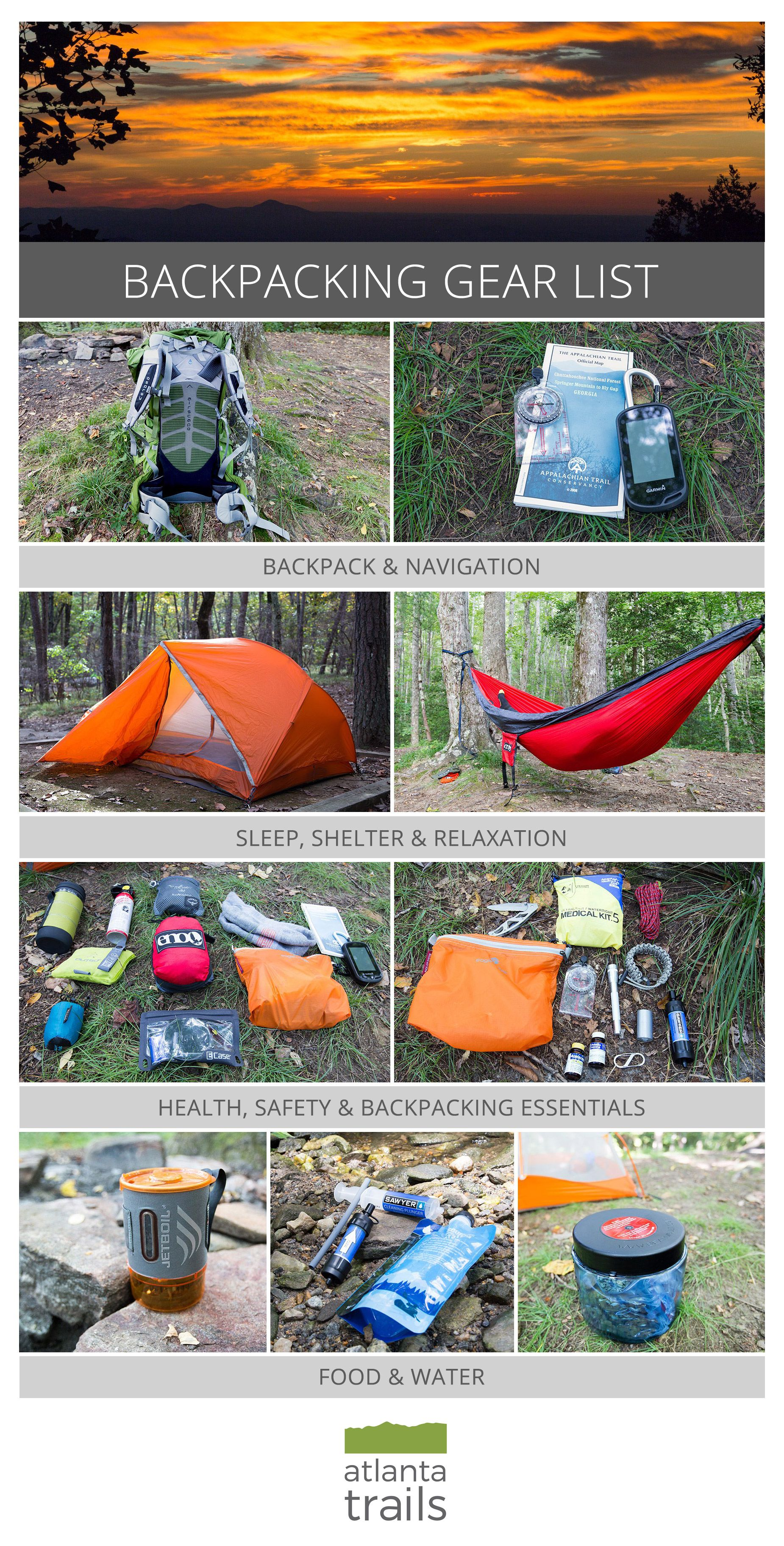 Backpacking gear list for multi-day and overnight hikes: my ...