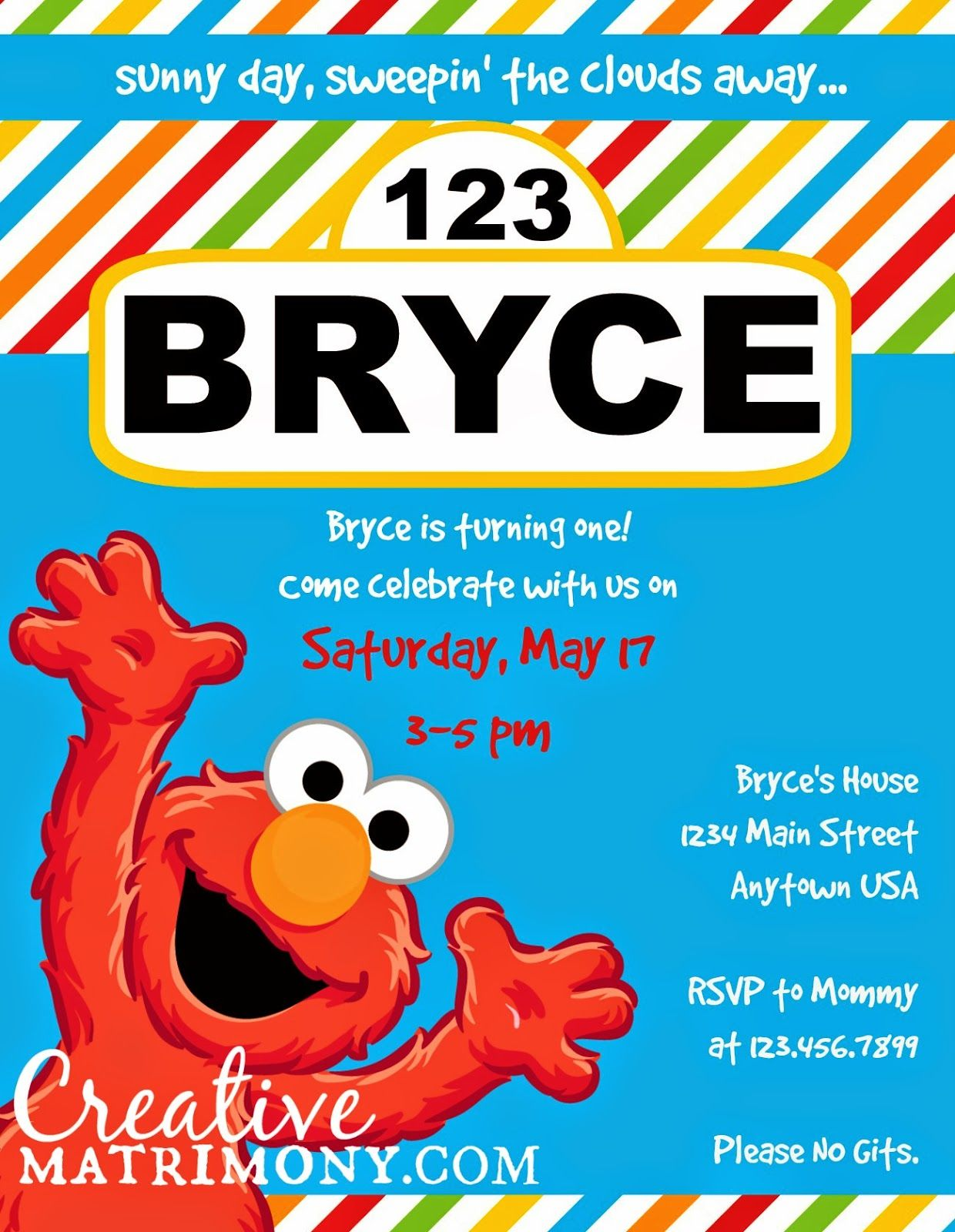Creative Matrimony Free Sesame Street Inspired Birthday