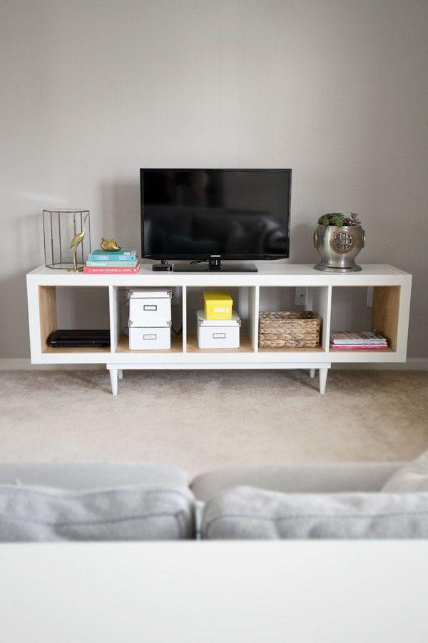 25+ Ikea Kallax Or Expedit Shelf Hacks | Wohnzimmer, Altbauten Und ... Wohnzimmer Ideen Ikea