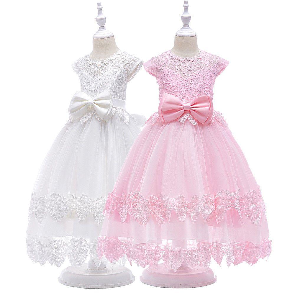 Kinder Prinzessin Kleider Abendkleid Blumenmädchen Tüll Hochzeit Party Festkleid