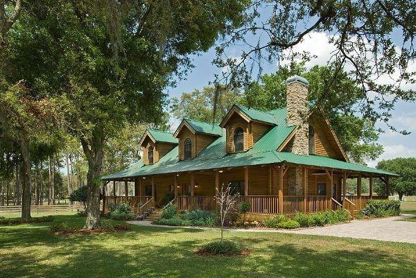 design log homes with wrap around porches   Log Home Plans Wrap ...