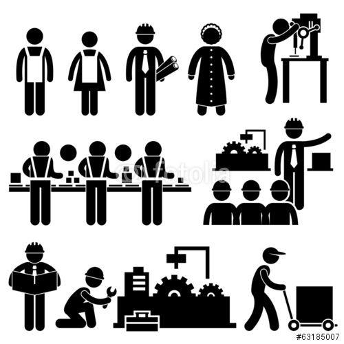 Factory Worker Engineer Manager Supervisor Working Stockfotos Und Lizenzfreie Vektoren Auf Fotolia Com Bild 63185007 Strichm Gratis Bilder Vektorgrafik