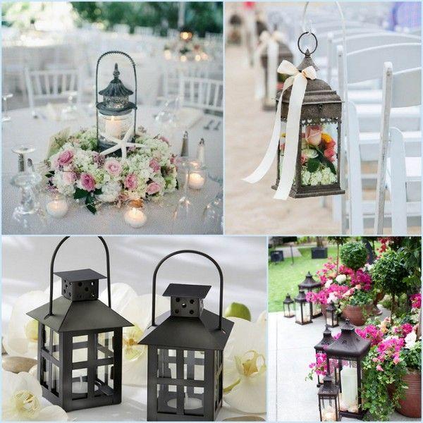 Summer Outdoor Wedding Lantern Decor Ideas from HottRef.
