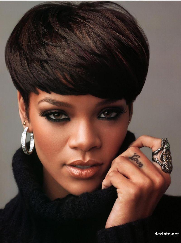 Rihanna Hairstyle Black Hairstyles Pinterest Rihanna Jamur - Gaya rambut pendek rihanna