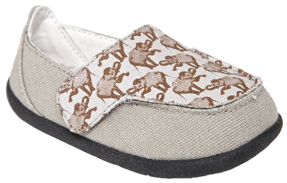 Zooligans Elephant Loafer With Peanut Print On The Footbed