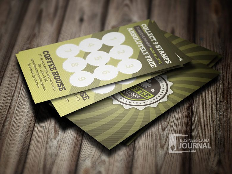 Download httpbusinesscardjournalretro coffee business card a 2 in 1 retro design that includes both business card and loyalty card template it has an exclusive retro badge you can use as your coffee shop logo accmission Gallery
