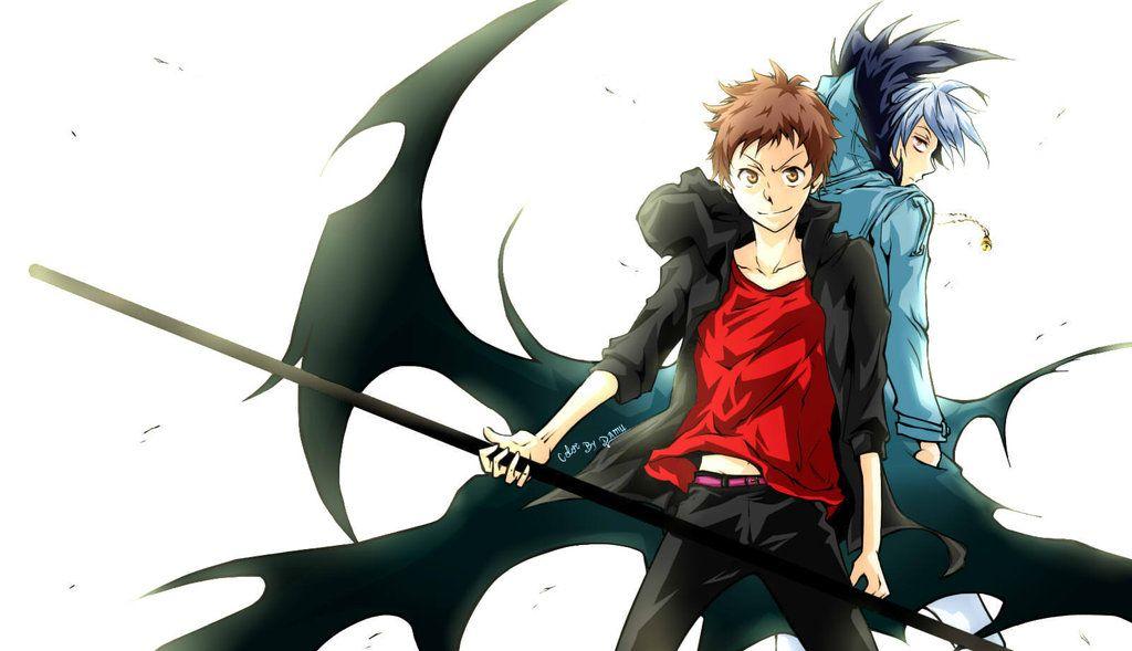 "Kuro & Mahiru (Servamp) ""Servamp Pair Sloth) by DamuChan91. Source: http://damuchan91.deviantart.com/"