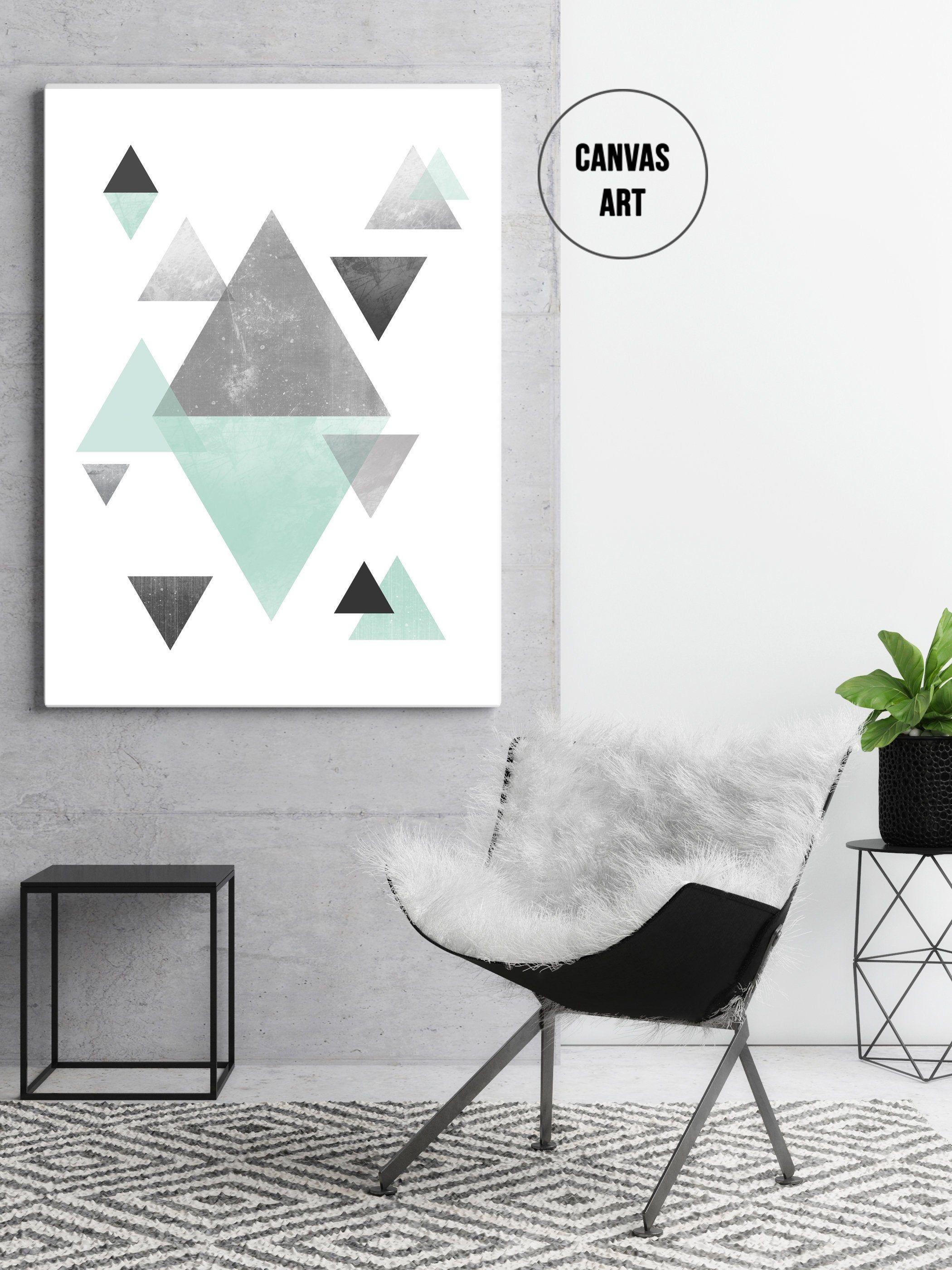 Scandinavian Modern Printable Wall Art Textured Art Triangle Print Geometric Print Home Decor Wall Decor Wall Art Digital Download Geometric Art Geometric Art Prints Triptych Wall Art