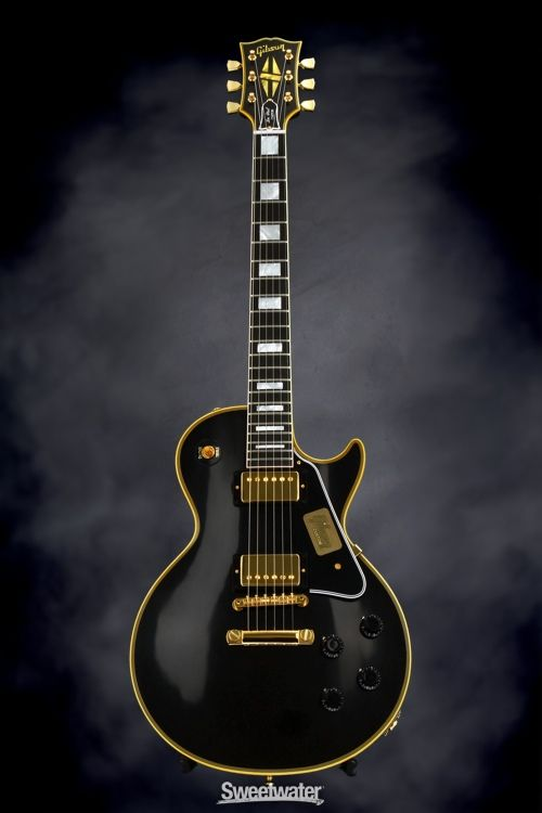 gibson custom true historic 1957 les paul custom black beauty vintage ebony guitar les. Black Bedroom Furniture Sets. Home Design Ideas
