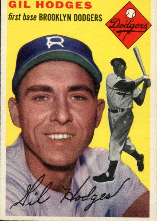 1954 Topps Gil Hodges Card My Favorite Team Baseball