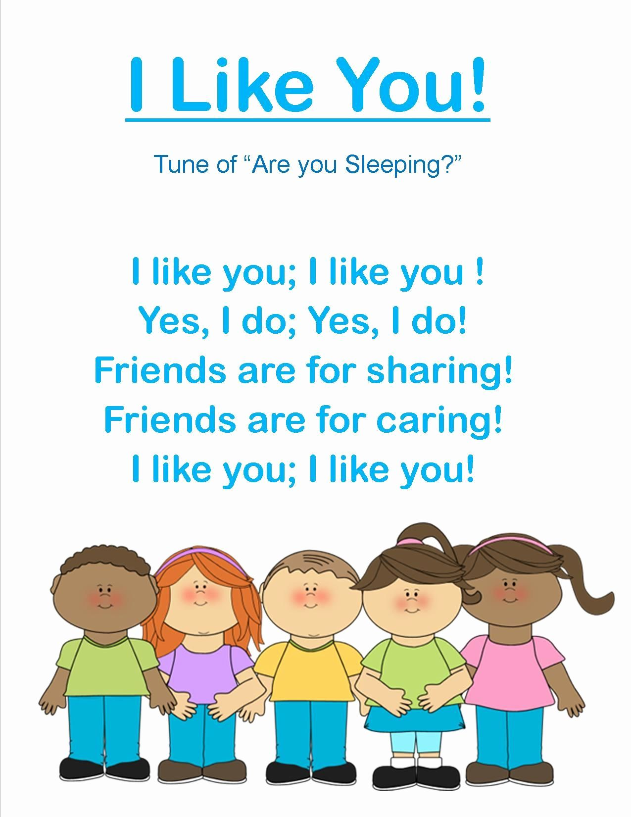 Friends Worksheets For Preschoolers In