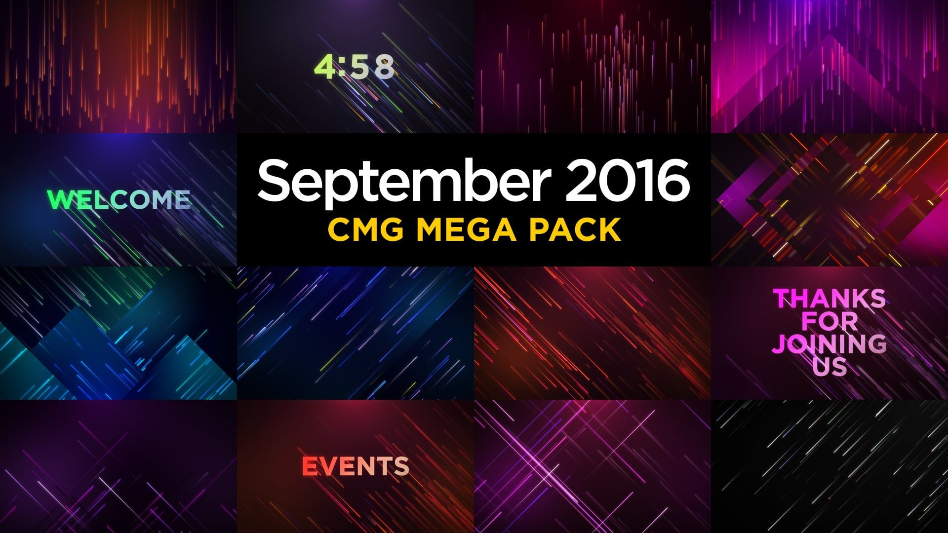 September 2016 CMG Mega Pack
