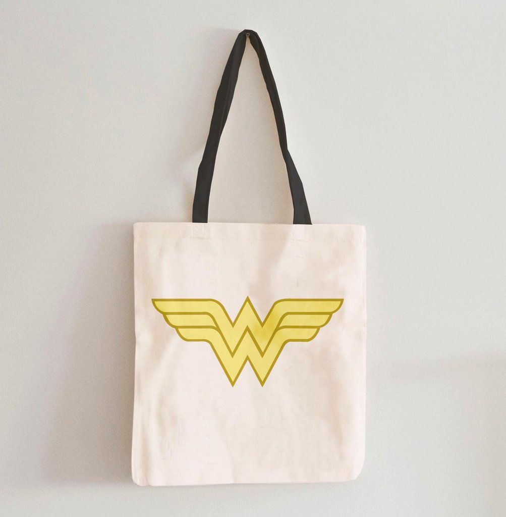 Wonderwoman Logo Tote Bag Bags Purses Marketbags Totebag Pingbag Cottonbag Cottonpingbag