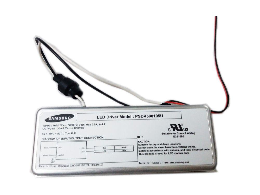 samsung psdv500105u 30~45 3v 1200ma outdoor lighting 70w class 2 wiring led  driver / power - new