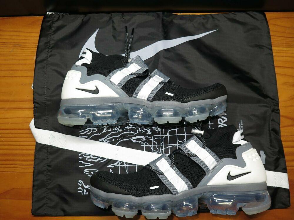 Men's Shoes Nike Men's Air Vapormax FK Flyknit Utility Black/Grey/White AH6834-003 Size 10.5