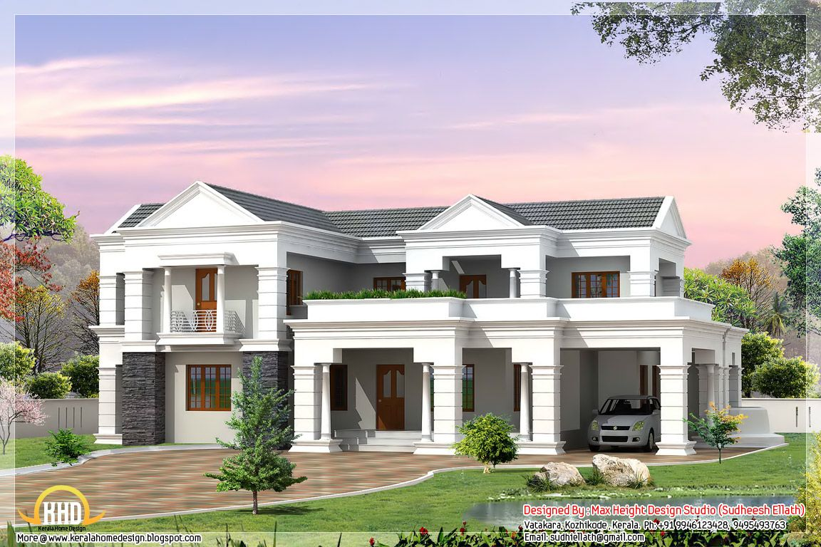 Indian style 3D house elevations   Architecture house plans   Home ...