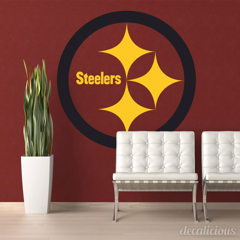 Pittsburgh Steelers DieCut Vinyl Decal Steelers Decor - Custom cut vinyl wall decals