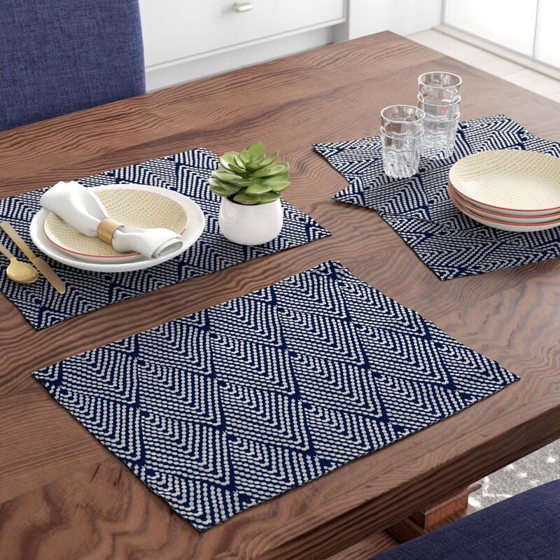 Leia 4 Piece Placemat Set In 2021 Dining Table Cloth Placemat Sets Placemats