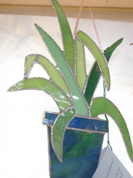 Stained Glass Potted Plant