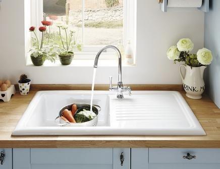 The Vecchio G1 Ceramic White kitchen sink comes complete with a ...