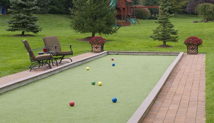home bocce court we need one of these in the