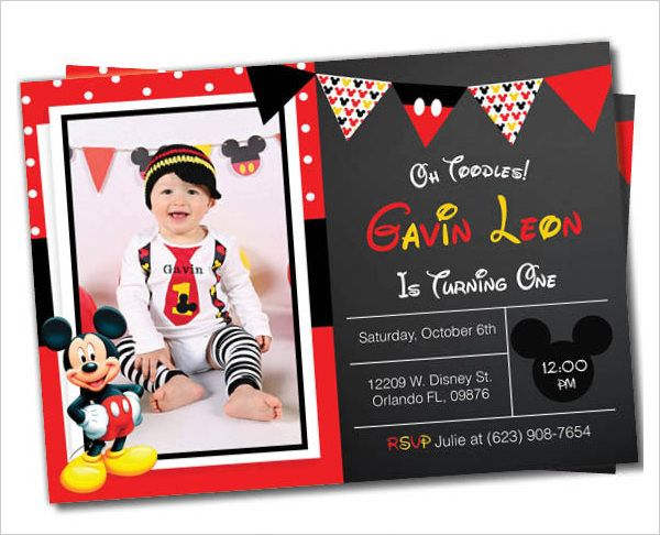 Minnie Mouse Printable Party Invitation Template For Girls. Mickey